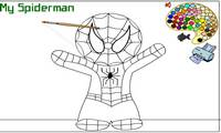Coloriage spiderman Enfants