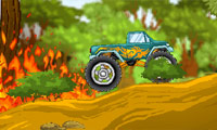 Monster Truck contre for�t Course